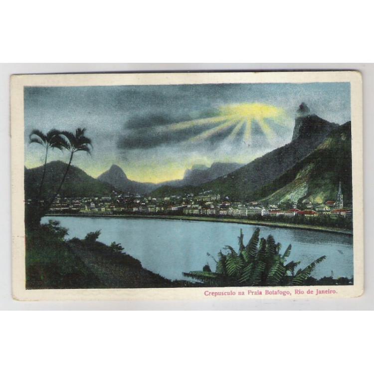 RJ95 - Cartão postal circulado 1923, Praia de Botafogo , Rio de Janeiro. Edi. J. S. Affonso.