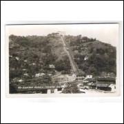 SN15 - Cartão postal antigo, Monte Serrat, Santos. 81 Foto Postal Colombo. Anos 50.