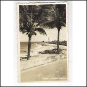 SA14 - Cartão postal antigo, Avenida Oceânica, Salvador, Bahia.