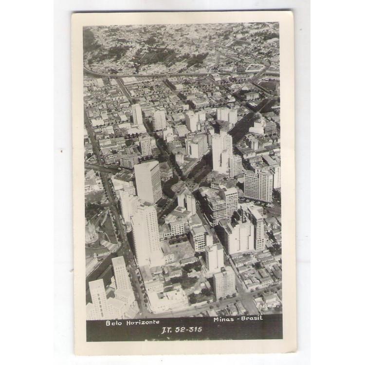 BH05 - Cartão postal antigo (1952), Belo Horizonte.