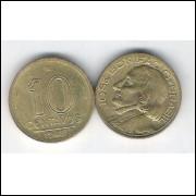 1948 -  10 Centavos, bronze-alumínio, FC. José Bonifácio.