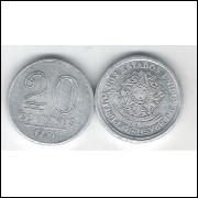 1957 - 20 Centavos, alumínio, FC.