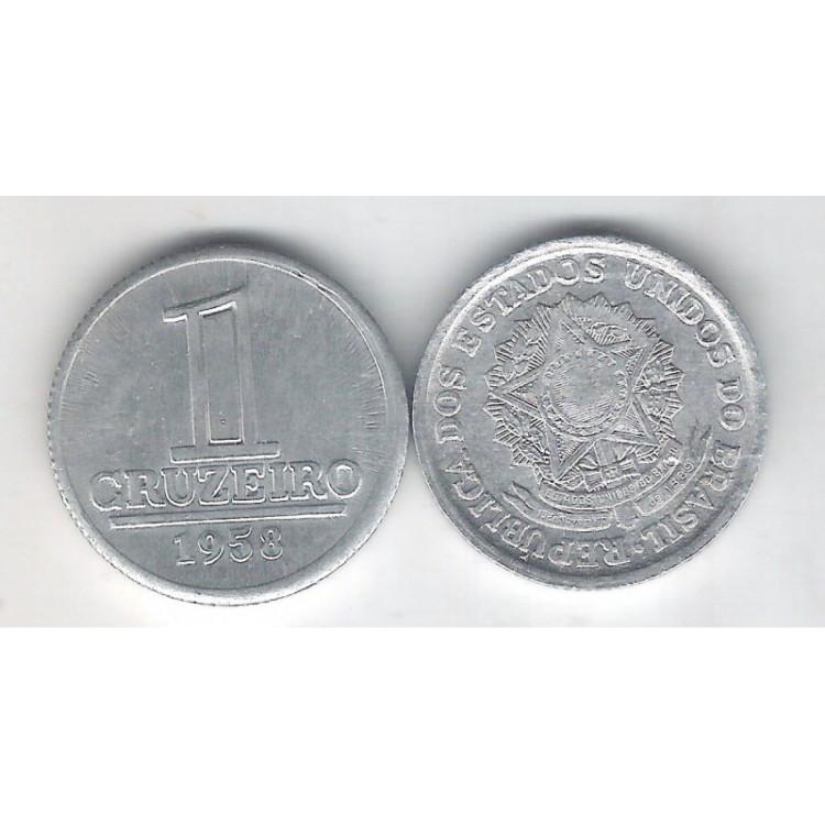 1958 - 1 Cruzeiro, alumínio, S-FC.