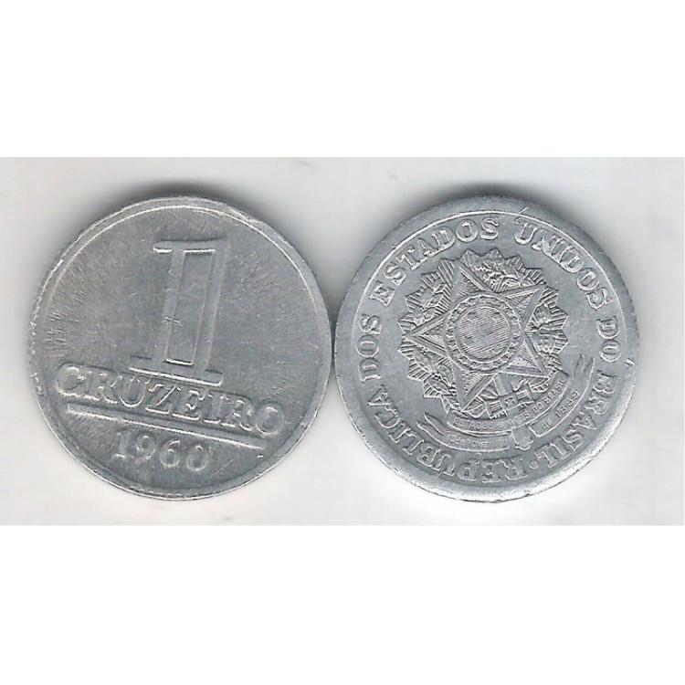 1960 - 1 Cruzeiro, alumínio, S-FC.