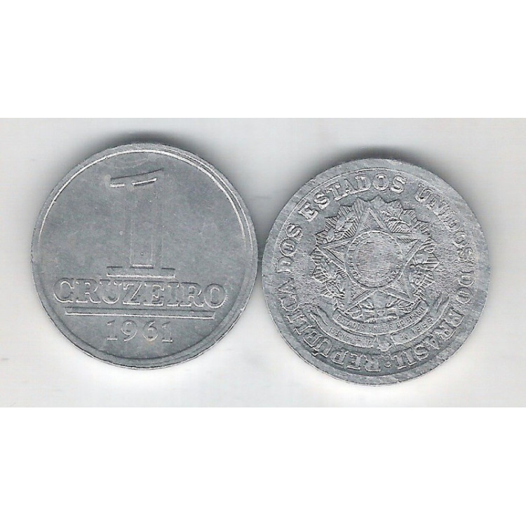 1961 - 1 Cruzeiro, alumínio, S-FC.