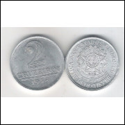 1958 - 2 Cruzeiros, alumínio, S-FC