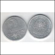 1959 - 2 Cruzeiros, alumínio, S-FC