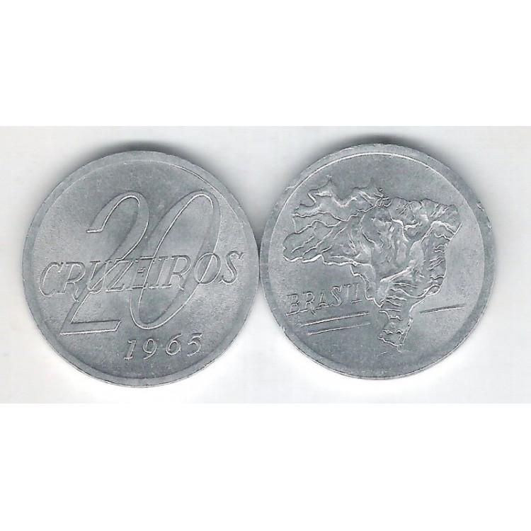 1965 - 20 Cruzeiros, alumínio, FC.