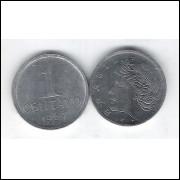 1967 -  1 Centavo, aço, fc.