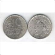 1967 - 10 Centavos, s-fc. Cupro-níquel.