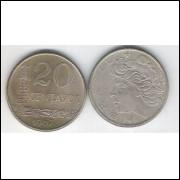 1967 - 20 Centavos, s-fc. Cupro-níquel.