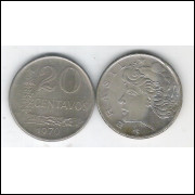 1970 - 20 Centavos, soberba. Cupro-níquel.