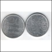 1976 - 20 Centavos, fc. Aço.