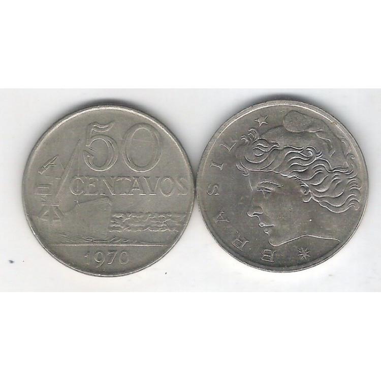1970 - 50 Centavos, soberba. Cupro-níquel