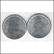 1976 - 50 Centavos, fc. Aço.