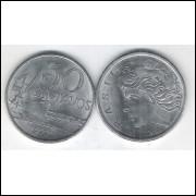 1977 - 50 Centavos, fc. Aço.