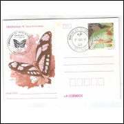 BP-160 Brasil 1979, Brasiliana, Borboletas, fauna, insetos. carimbo 1o dia.