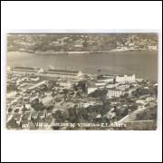 vi05 - Foto Postal antiga, Vista parcial de Vitória - ES. Porto