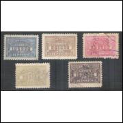 D-19 - 1920/1931 Série selos de depósito, papel espesso, filigrana horizontal, denteação 11-11,5.