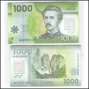 Chile - (P.161) 1.000 Pesos, 2012 FF , fe. Polímero. Ignacio Carrera Pinto. Fauna,flora.
