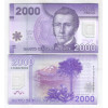 Chile - (P.162) 2000 Pesos, 2012 FC, fe. Polímero. Personalidade, Manuel Rodriguez. Pássaro.