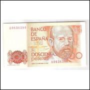 Espanha - (P.156) 200 Pesetas, 1980, s/fe.