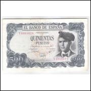 Espanha - (P.153) 500 Pesetas, 1971, mbc.