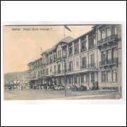 GR05 - Postal antigo, 1917, Santos, Grand Hotel Guarujá I. F. Manzieri, Edictor.