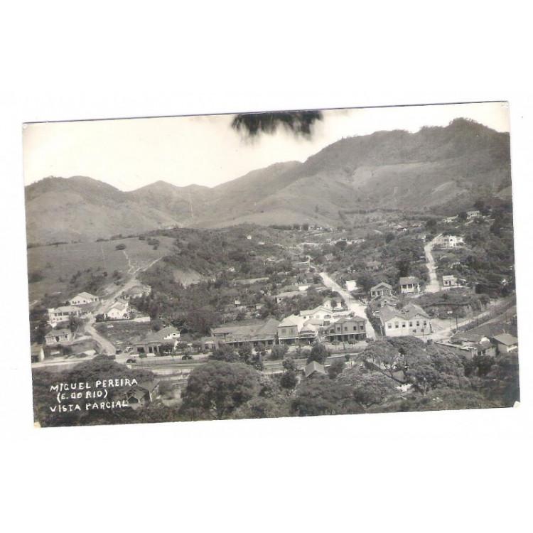 MP01 - Postal antigo, 1947, Miguel Pereira, Vista parcial.