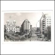 RE33 - Postal antigo, Recife, Praça Saldanha Marinho e Avenida 10 de Novembro. Igreja.