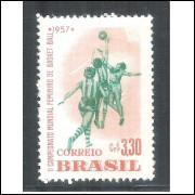 C-393AY - MARMORIZADO - 1957 - II Campeonato Mundial Feminino de Basket-Ball. Esportes.