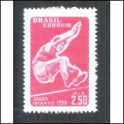C-407Y - MARMORIZADO - 1958 - Jogos Infantis. Esportes.