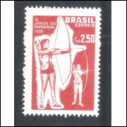 C-422Y - MARMORIZADO - 1958 - Jogos da Primavera. Esportes.