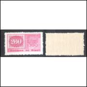 C-466Y - MARMORIZADO - 1961 - Centenário do Olho-de-Cabra. Selo sobre selo.
