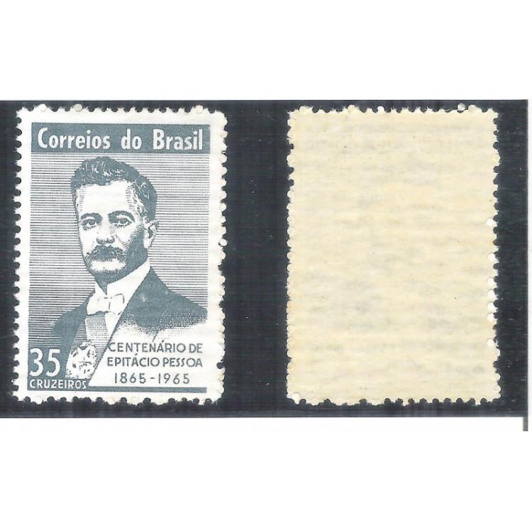 C-529Y - MARMORIZADO - 1965 - Centenário de Epitácio Pessoa. Personagem.