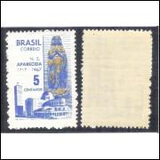 C-581Y - MARMORIZADO - 1967 - 250 Anos da descoberta da imagem de Nossa Senhora Aparecida. Religião.