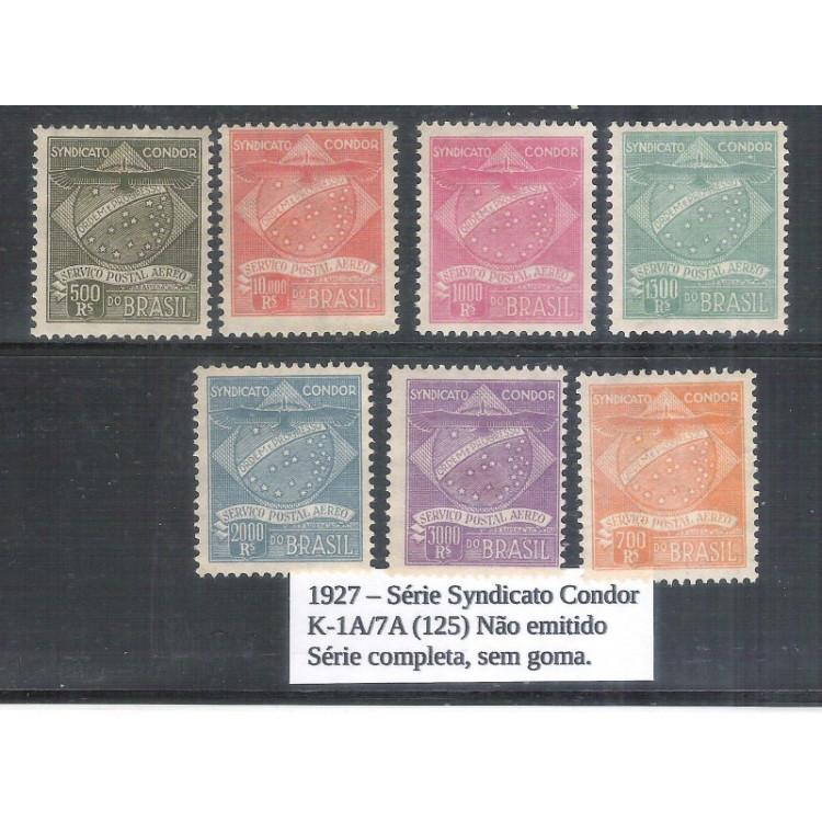 1927 - K-1A/7A - Série Syndicato Condor. Novo, sem goma.