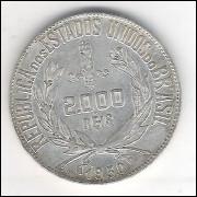 1930 - 2000 Réis, prata, mbc.