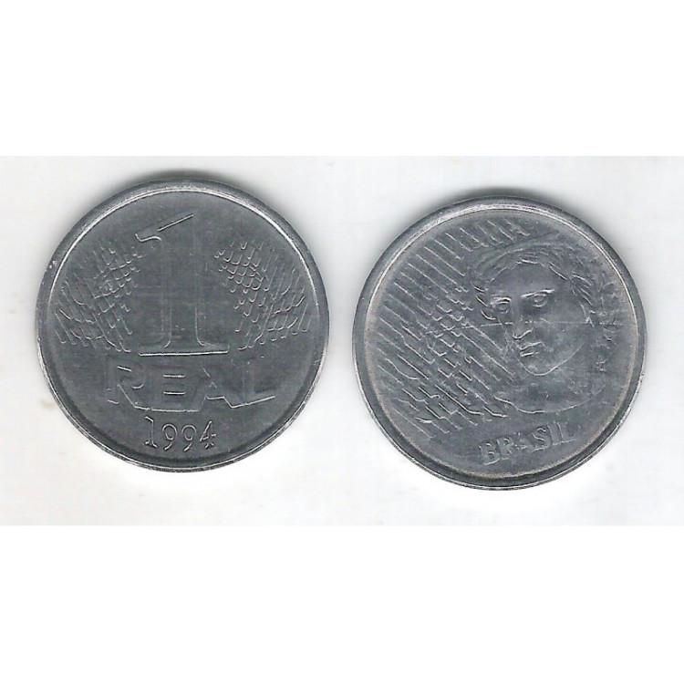 1994 - 1 Real, soberba, aço.