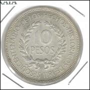 Uruguai, 10 Pesos, 1961, S/FC, prata, comemorativa.
