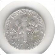 Estados Unidos, 1 Dime, 1946, prata, mbc. Roosevelt