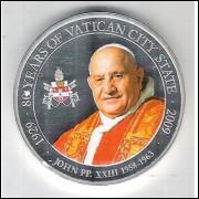 Palau, 1 Dollar 2009, Papa João XXIII (1958-1963), 80 Anos da Cidade do Vaticano, fc.