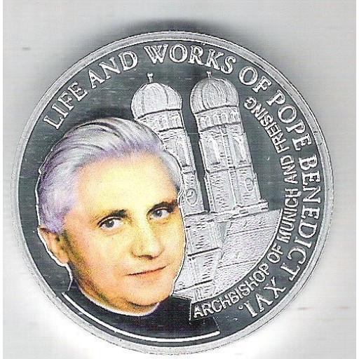 Fiji, 2012 Dolar, Papa Benedito XVI, Rainha Elizabeth II. Arcebispo de Munique e Freising. Religião.