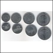 Yemen, 1 (2000); 5 (2001); 10 (2003); 20 (2004) Rials, FC.