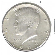 Estados Unidos, Half Dollar, 1965, Kennedy, soberba.