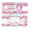 Bahamas - (P.44) 3 dollars 1984 fe. Rainha Elizabeth II. Barcos.