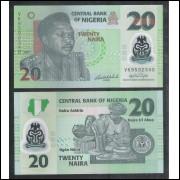 Nigéria - (P.34) 20 Naira, 2007, fe. Polímero.