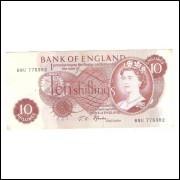 Inglaterra (P.373c) - 5 Shillings, 1966-70, mbc. Rainha Elizabeth II
