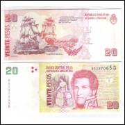 Argentina (P.355) - 20 Pesos, 2016, letra D, fc. Personalidade: Juan Manuel de Rosas. Carvavelas