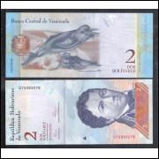 Venezuela (P.88) - 2 Bolívares 2012, fe. Personalidade: Francisco de Miranda. Fauna, ave,